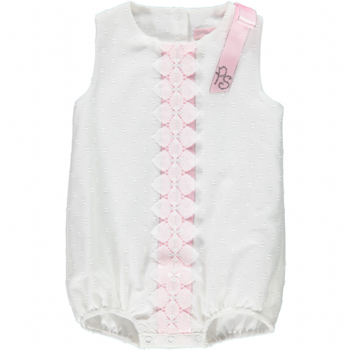 Piccola Speranza White And Pink Trimmed Shortie
